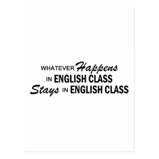 Whatever Happens - English Class Postcard