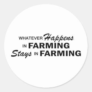 Whatever Happens - Farming Round Sticker
