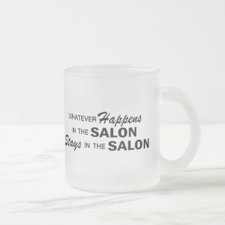 Whatever Happens Frosted Glass Mug