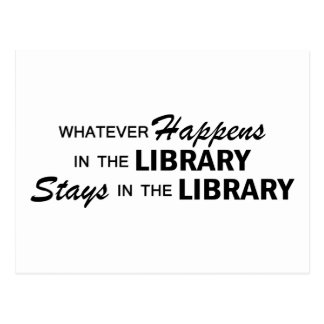 Whatever Happens - Library Postcard
