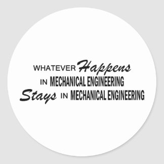 Whatever Happens - Mechanical Engineering Round Sticker