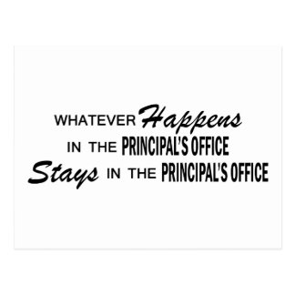 Whatever Happens - Principal's Office Postcard