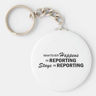 Whatever Happens - Reporting Key Ring
