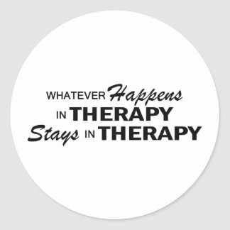 Whatever Happens - Therapy Round Sticker