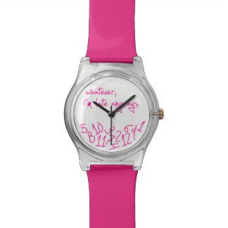 Whatever - Hot Pink Watches