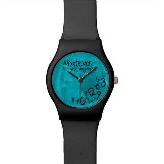 Whatever I m late anyways - aqua blue Wrist Watches