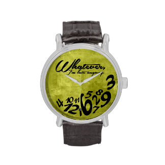 Whatever, I'm late anyway - lime green Watch