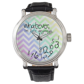 whatever, I'm late anyway - rainbow chevron Watch