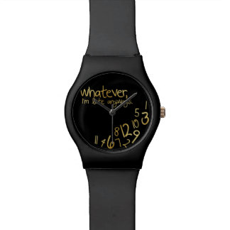 Whatever, I'm late anyways - black & gold Watch