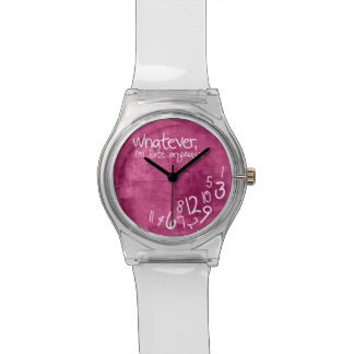 Whatever, I'm late anyways - hot pink Watch