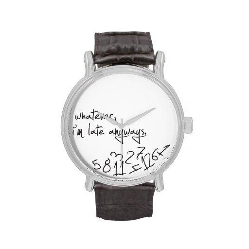 whatever, I'm late anyways - modern black & white Wrist Watch