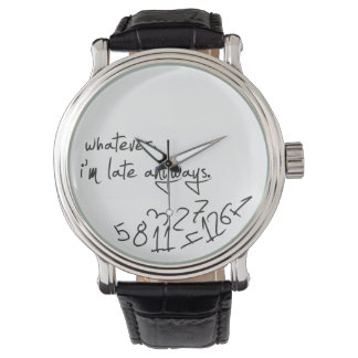 whatever, I'm late anyways - modern black & white Watch