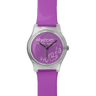 Whatever, I'm late anyways - Purple Watch