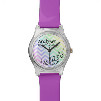 Whatever, I'm late anyways - rainbow chevron Watch