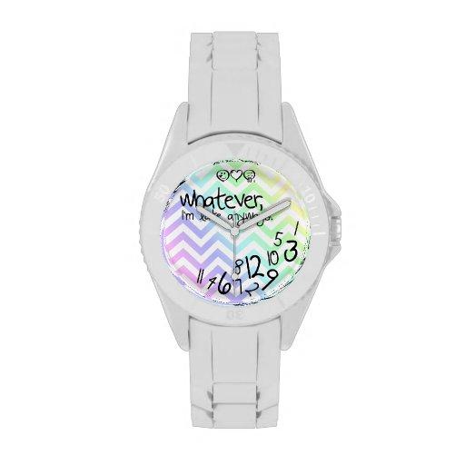 whatever, i'm late anyways - rainbow chevron wristwatches