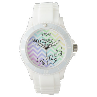 whatever, i'm late anyways - rainbow chevron watches