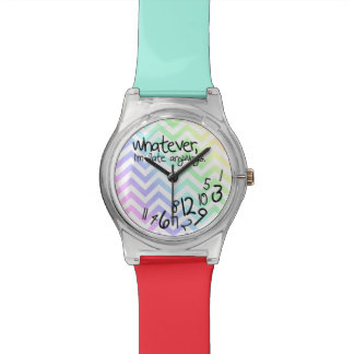Whatever, I'm late anyways - rainbow chevron Wrist Watch