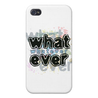WHATEVER iPhone 4/4S CASES