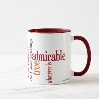 """Whatever Is"" Mug: Philippians 4:8"