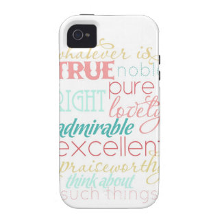 "whatever is true iPhone case- ""cotton candy"" Case-Mate iPhone 4 Covers"