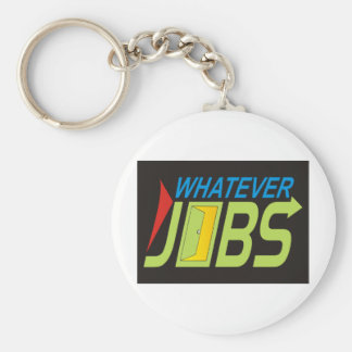 WhatEver Jobs Basic Round Button Key Ring