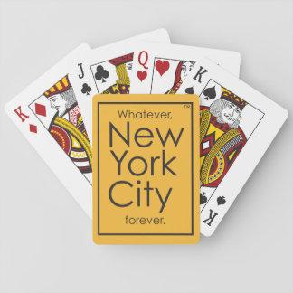 Whatever, New York City forever. Poker Deck