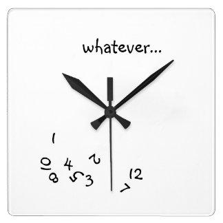 Whatever O'Clock Wall Clocks