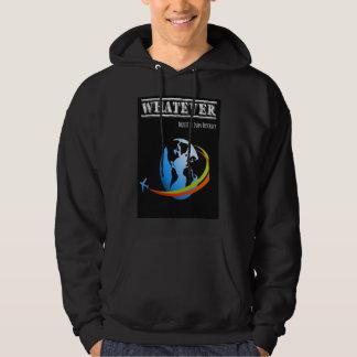 Whatever/planet + plane hoodie