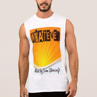 Whatever/rising sun sleeveless shirt