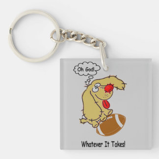 Whatever Single-Sided Square Acrylic Key Ring