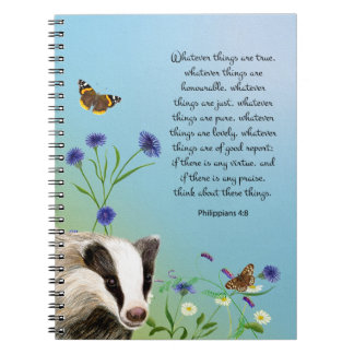 Whatever things are true Philippians 4:8 Note Book