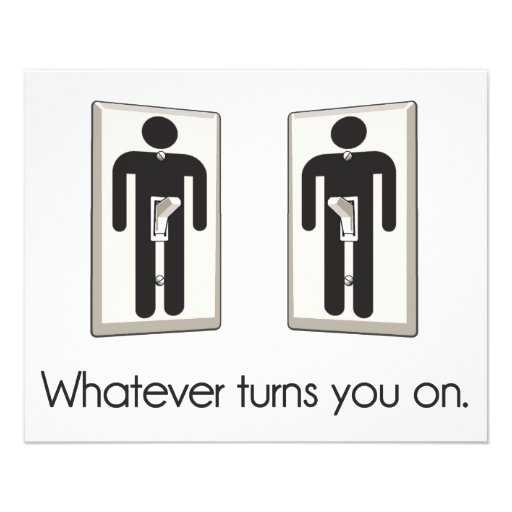 Whatever Turns You On Gay Male Light Switch Custom Flyer