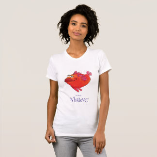 Whatever Whimsical  Fish Art in Red and Pink T-Shirt