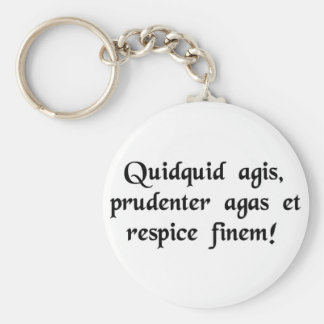 Whatever you do, do cautiously, and look to the... basic round button key ring