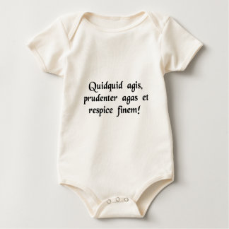 Whatever you do, do cautiously, and look to the... baby bodysuit