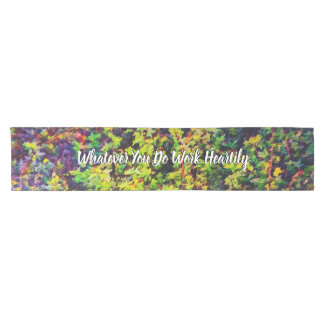 Whatever You Do Work Heartily Colossians 3 23 Short Table Runner