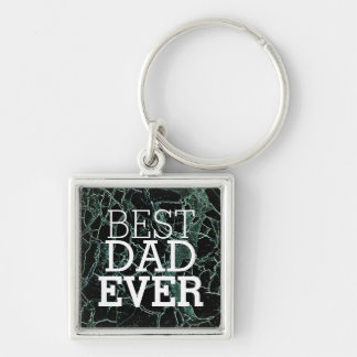Whatever YOU GIVE - Black Silver-Colored Square Key Ring