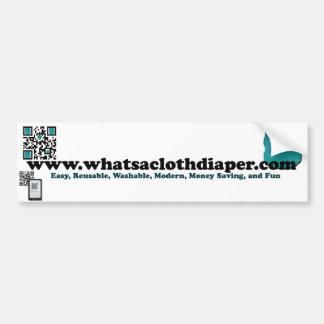 What's a Cloth Diaper Bumper Bumper Sticker