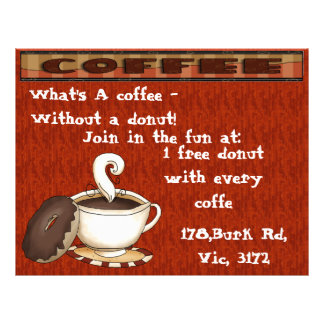 What's a coffee - Without a donut! Flyer Design