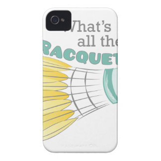 What's All The Racquet? iPhone 4 Cases