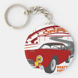 What's behind you doesn't matter. E. F. Basic Round Button Key Ring