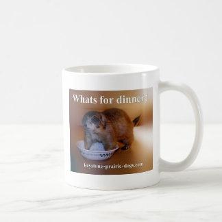 What's for dinner apron basic white mug