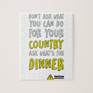 What's for Dinner? by GeekZone Jigsaw Puzzle