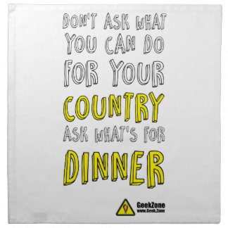 What's for Dinner? by GeekZone Napkin