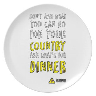 What's for Dinner? by GeekZone Plate