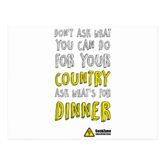 What's for Dinner? by GeekZone Postcard