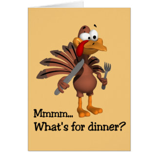 What's for Dinner? Thanksgiving card