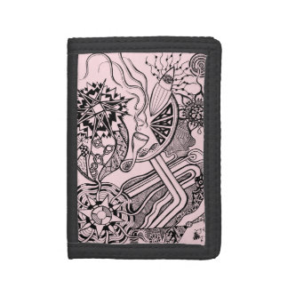 What's happening - wallet with funky world art