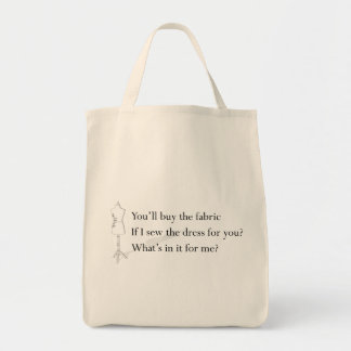 """What's in it for me?"" Tote"