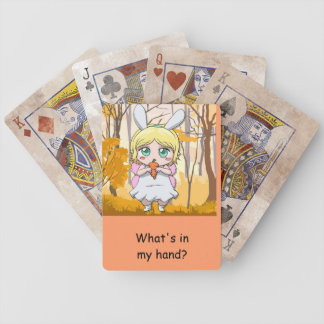 What's in my hand? bicycle playing cards